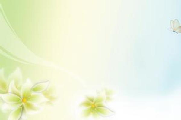 花卉蝴蝶模糊PPT背景图片