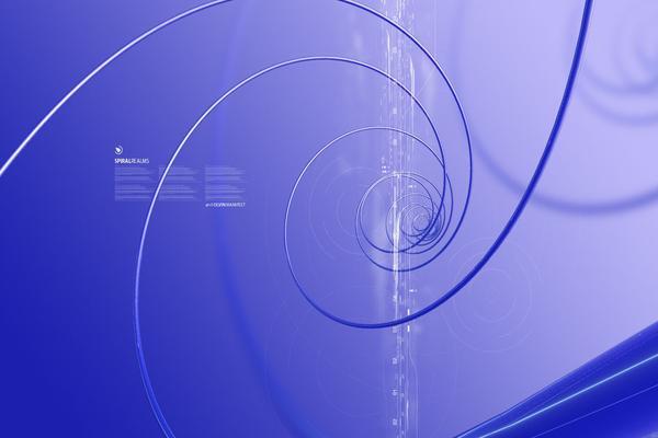 3d螺旋线PowerPoint背景图片