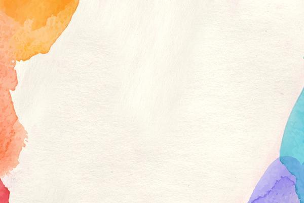 彩色水彩PPT背景图片
