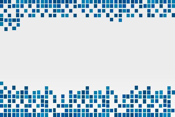 四张蓝色方块PPT边框背景图片