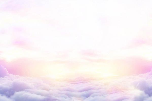 唯美紫色云彩PPT背景图片