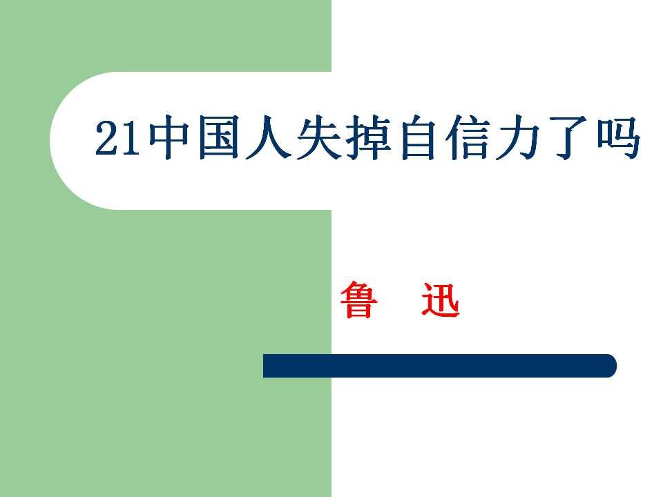 《中国人失掉自信力了吗》PPT课件4