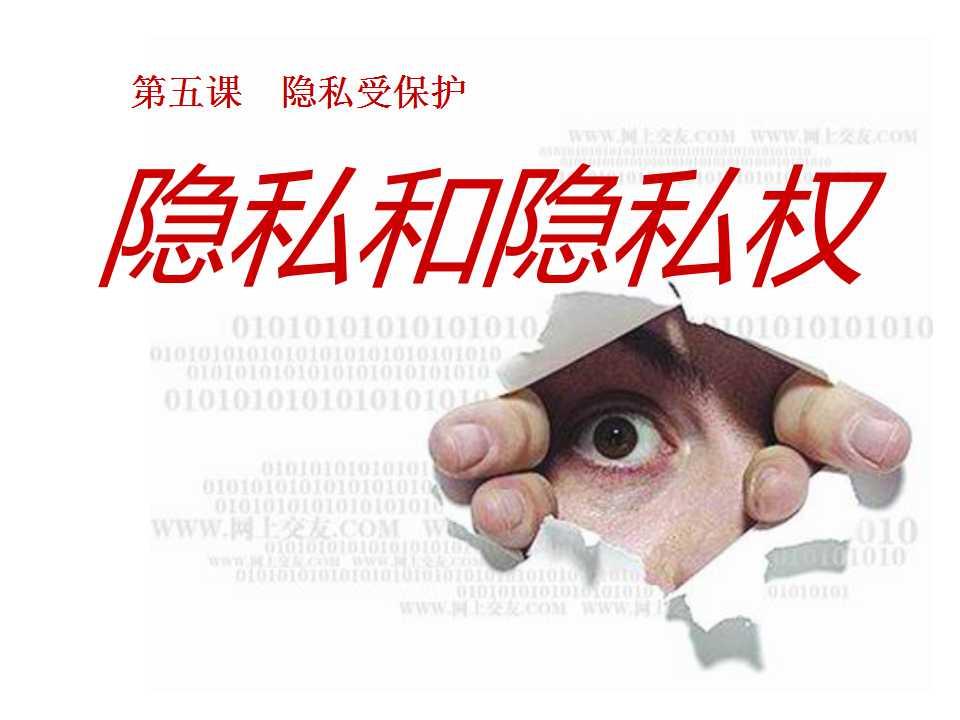 《隐私和隐私权》隐私受保护PPT课件