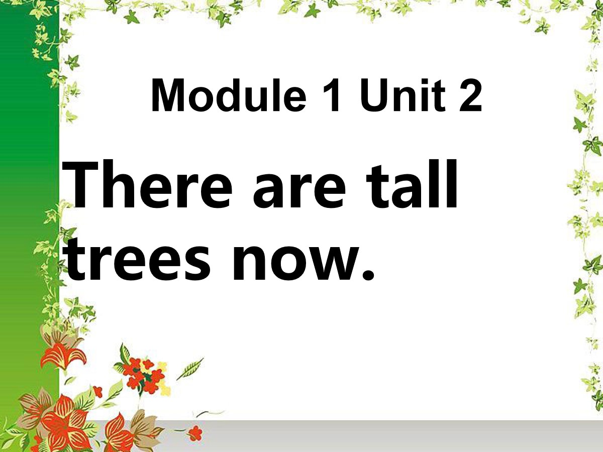 《There are tall trees now》PPT课件4