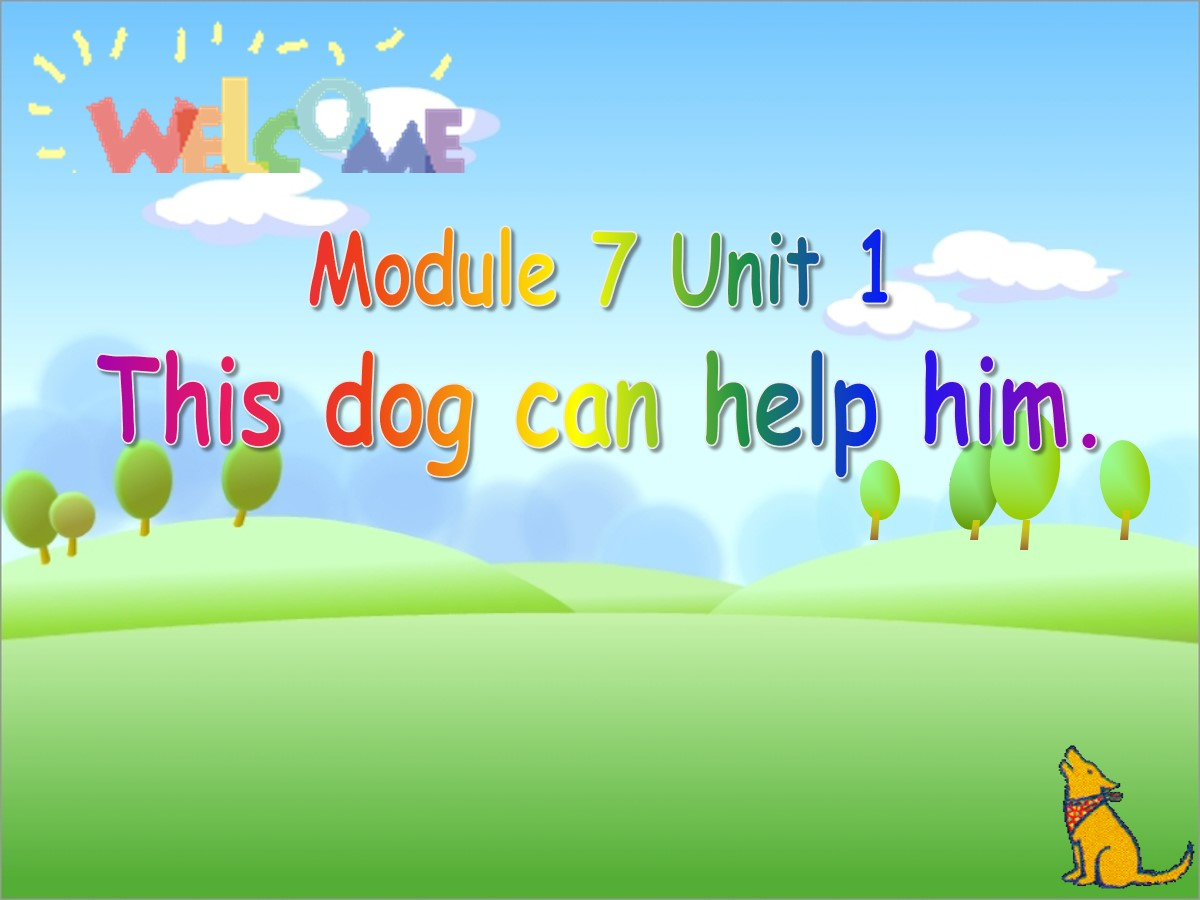 《This dog can help him》PPT课件5
