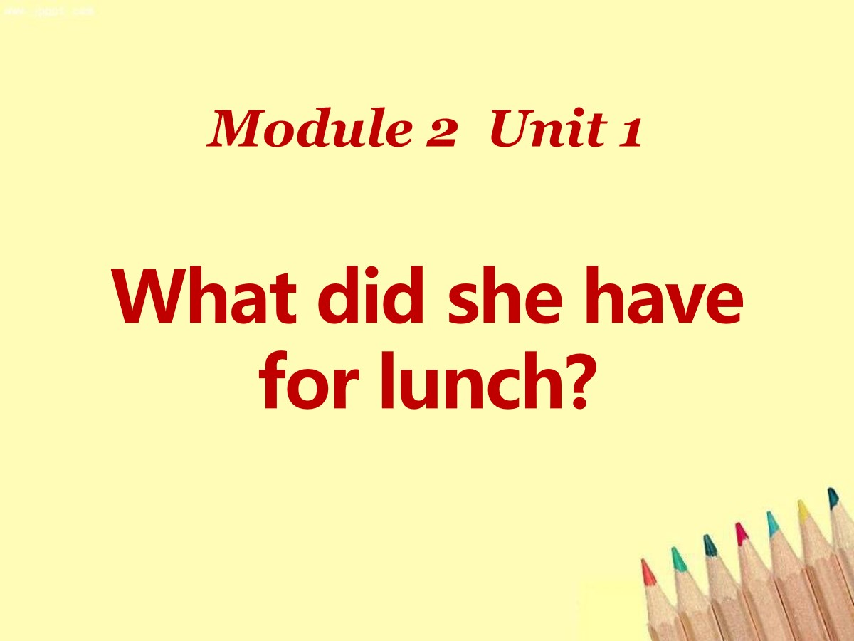 《What did she have for lunch?》PPT课件2