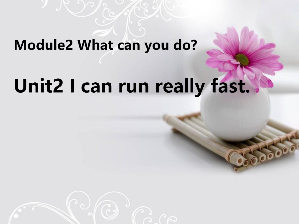 《I can run really fast》What can you do PPT课件2
