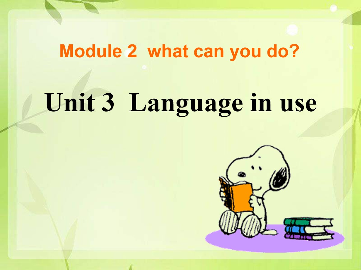 《Language in use》What can you do PPT课件2