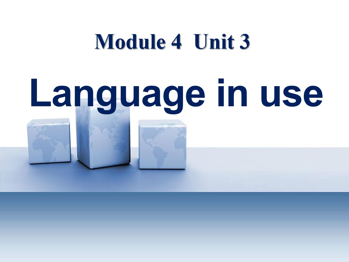 《Language in use》Life in the future PPT课件