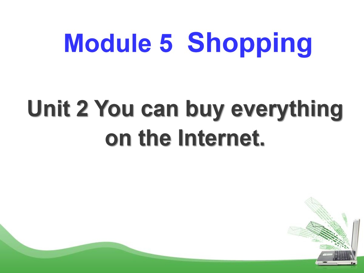 《You can buy everything on the Internet》Shopping PPT课件3