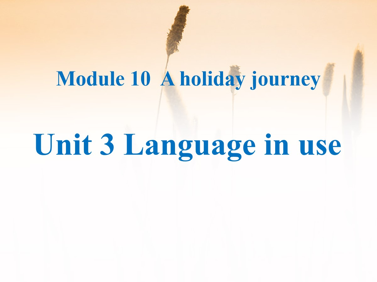 《Language in use》A holiday journey PPT课件