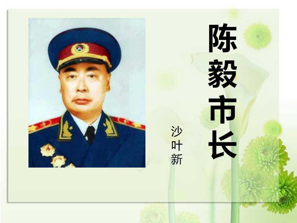 《陈毅市长》PPT课件8