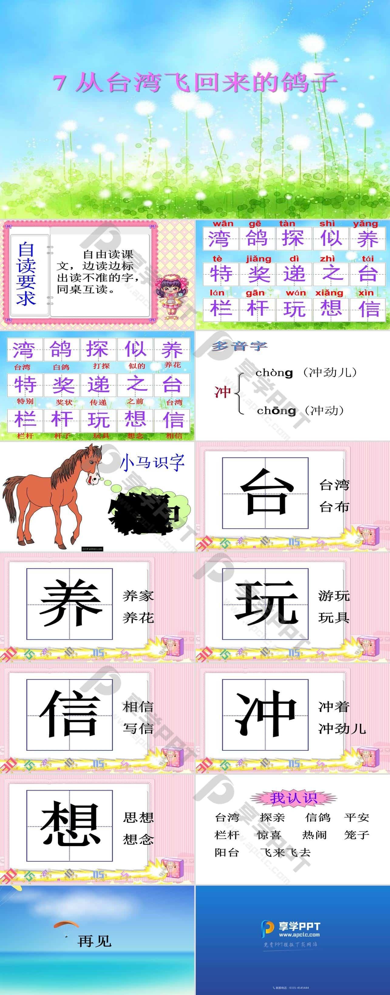《从台湾飞回来的鸽子》PPT课件3长图