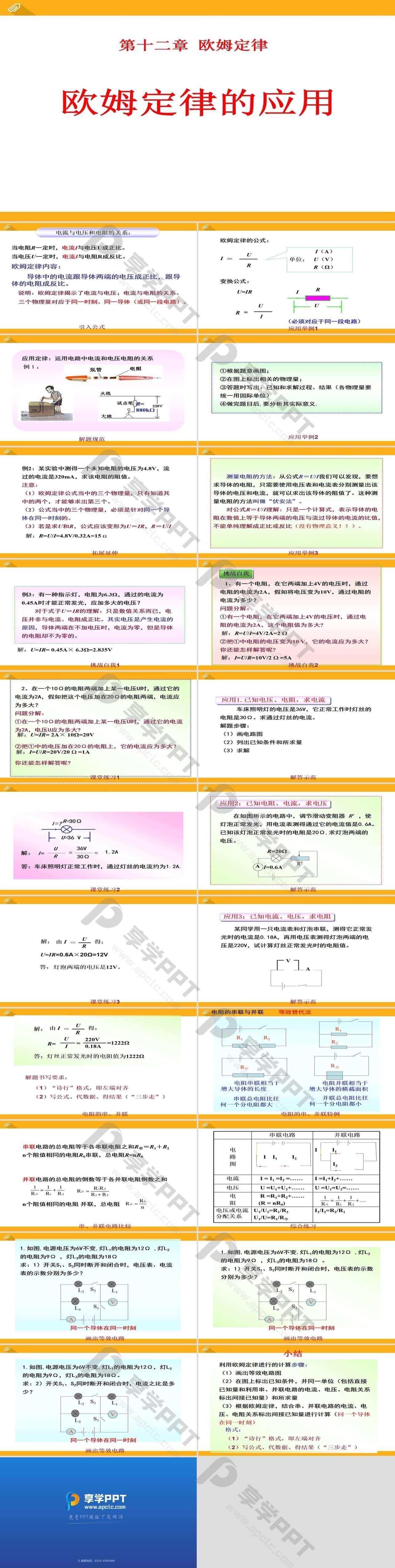 《欧姆定律的应用》欧姆定律PPT课件2长图