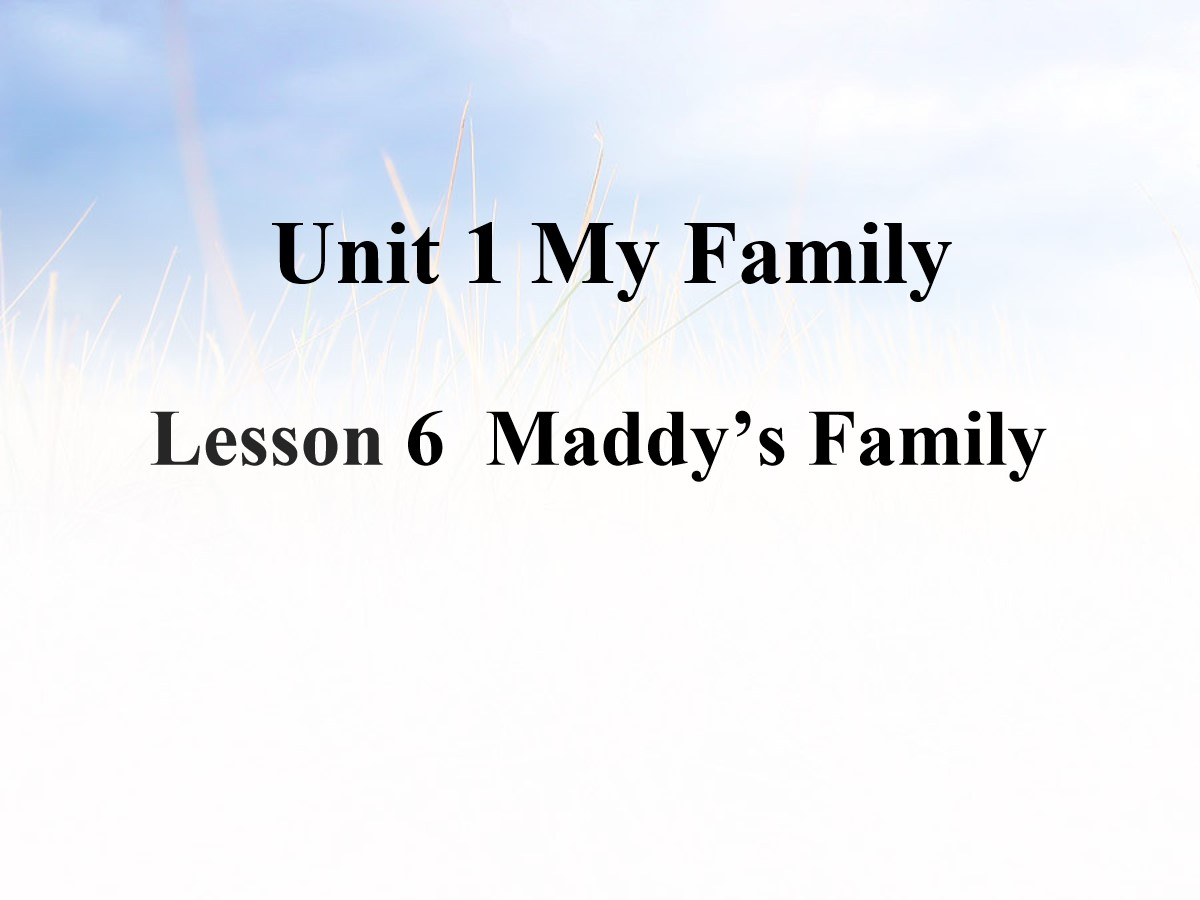 《Maddy's Family》My Family PPT课件