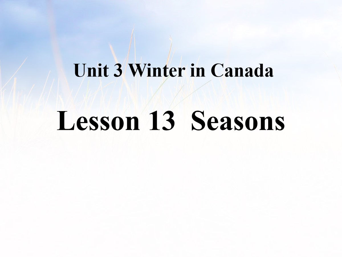 《Seasons》Winter in Canada PPT课件