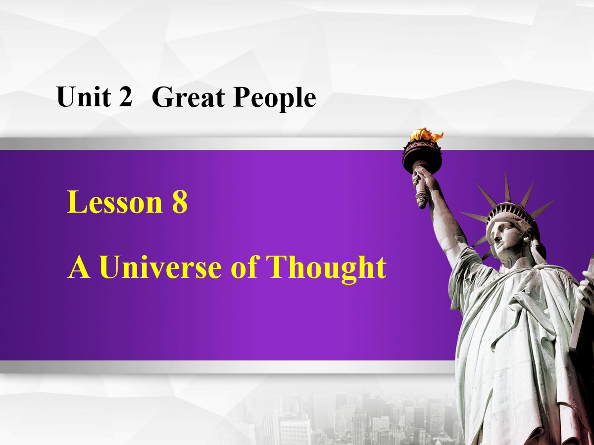 《A Universe of Thought》Great People PPT免费课件