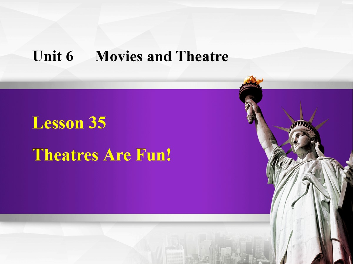 《Theatres Are Fun!》Movies and Theatre PPT免费课件