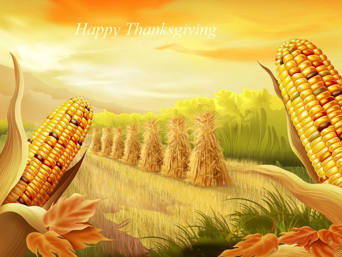 秋天玉米丰收了幻灯片模板