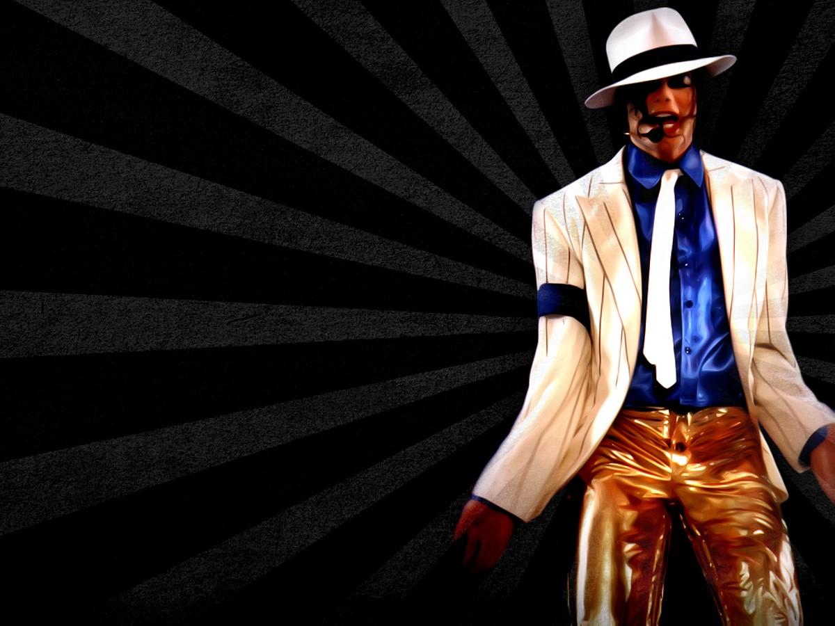 黑色背景迈克杰克逊PPT模板