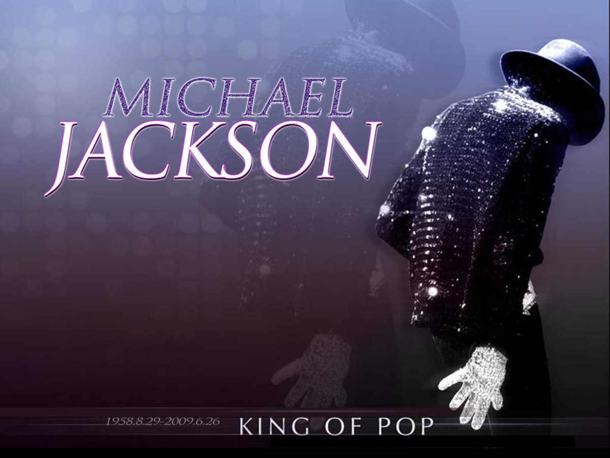 怀念迈克杰克逊艺术幻灯片模板
