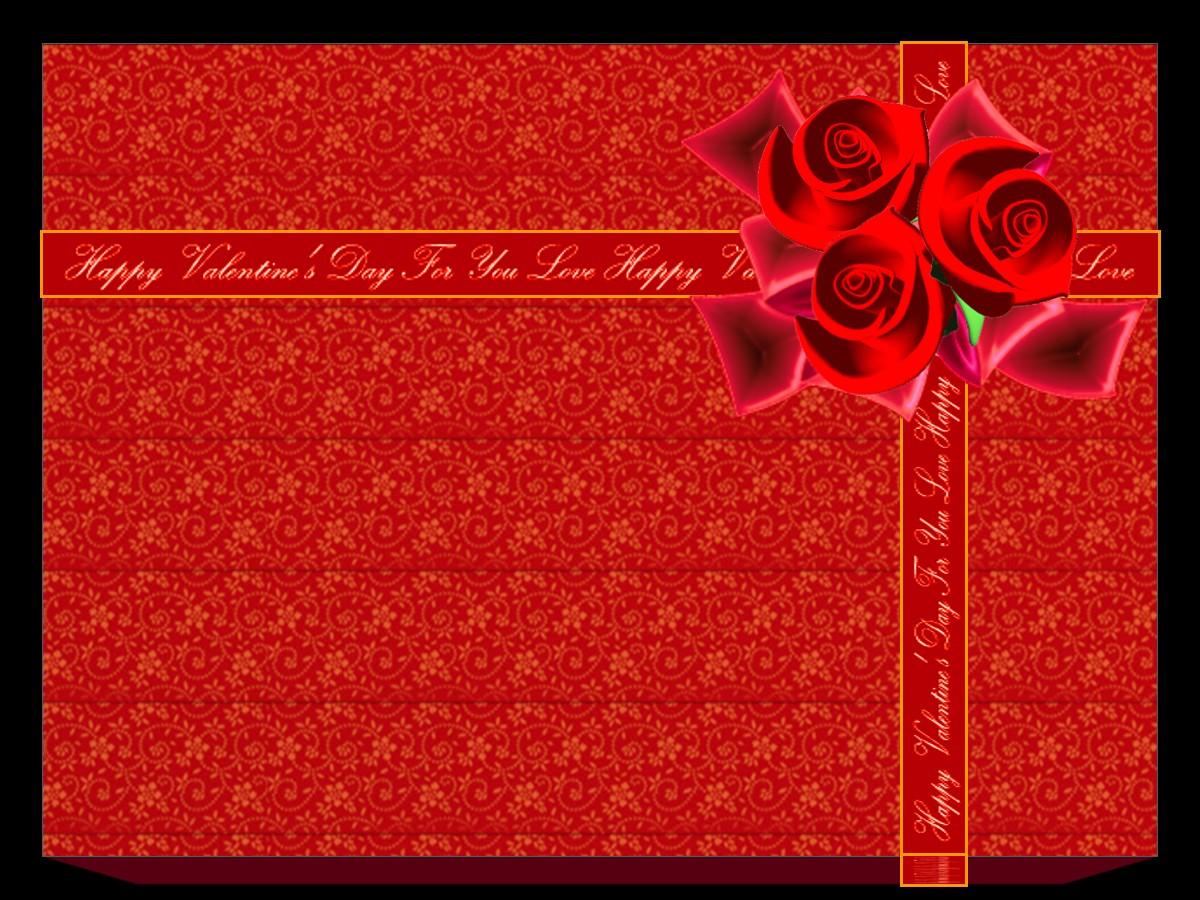 情人节礼物背景PPT模板