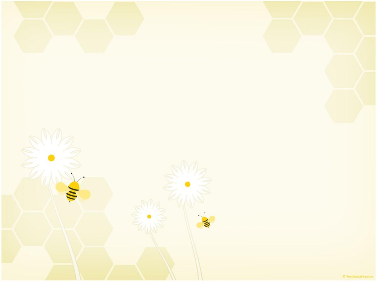 淡雅蜜蜂背景PPT模板