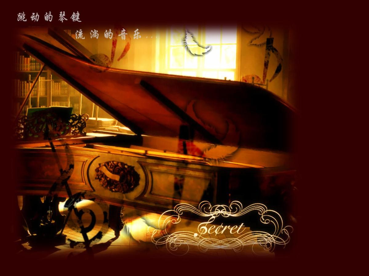 钢琴背景音乐PPT模板