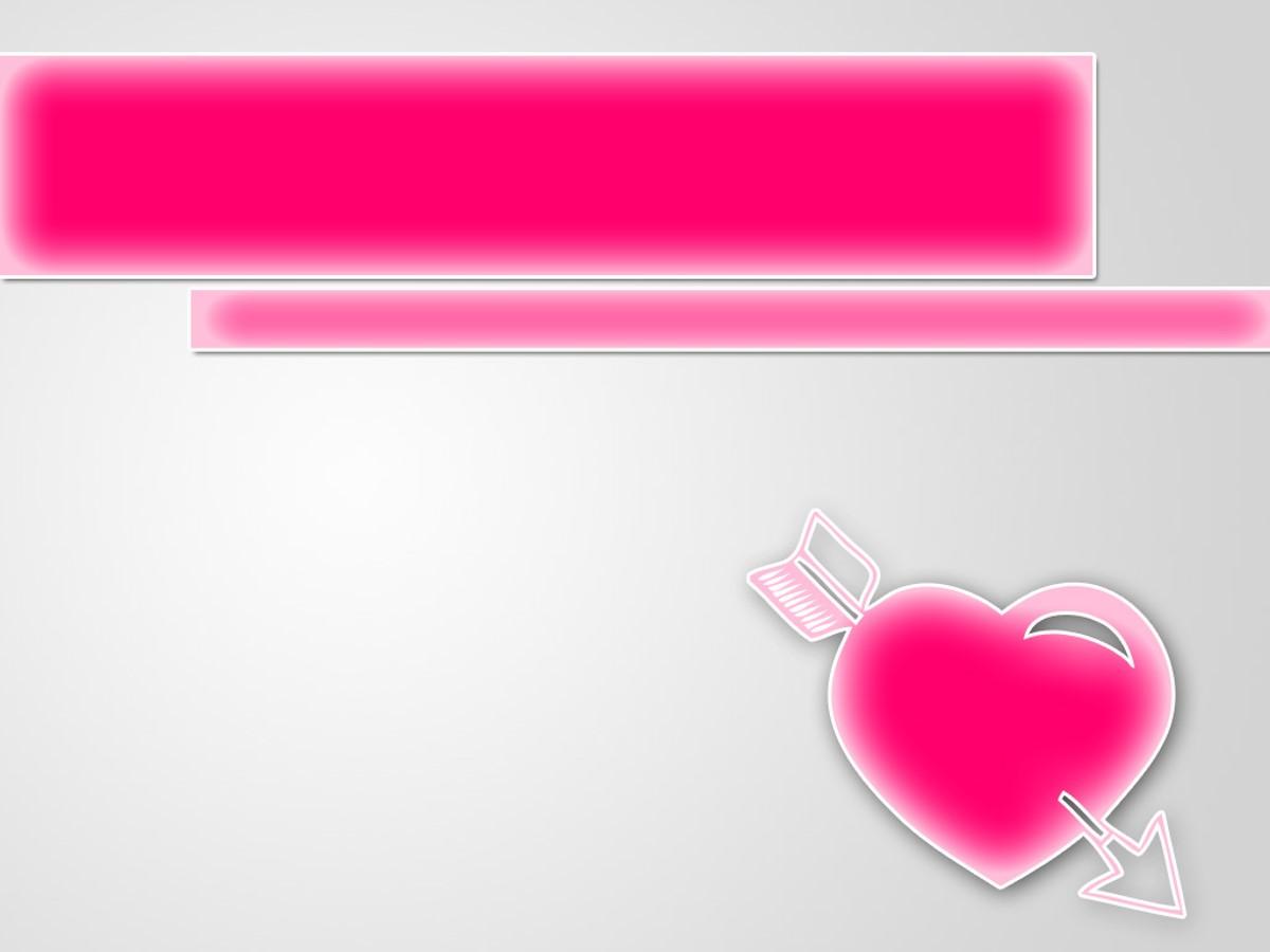 粉色爱情主题PPT模板