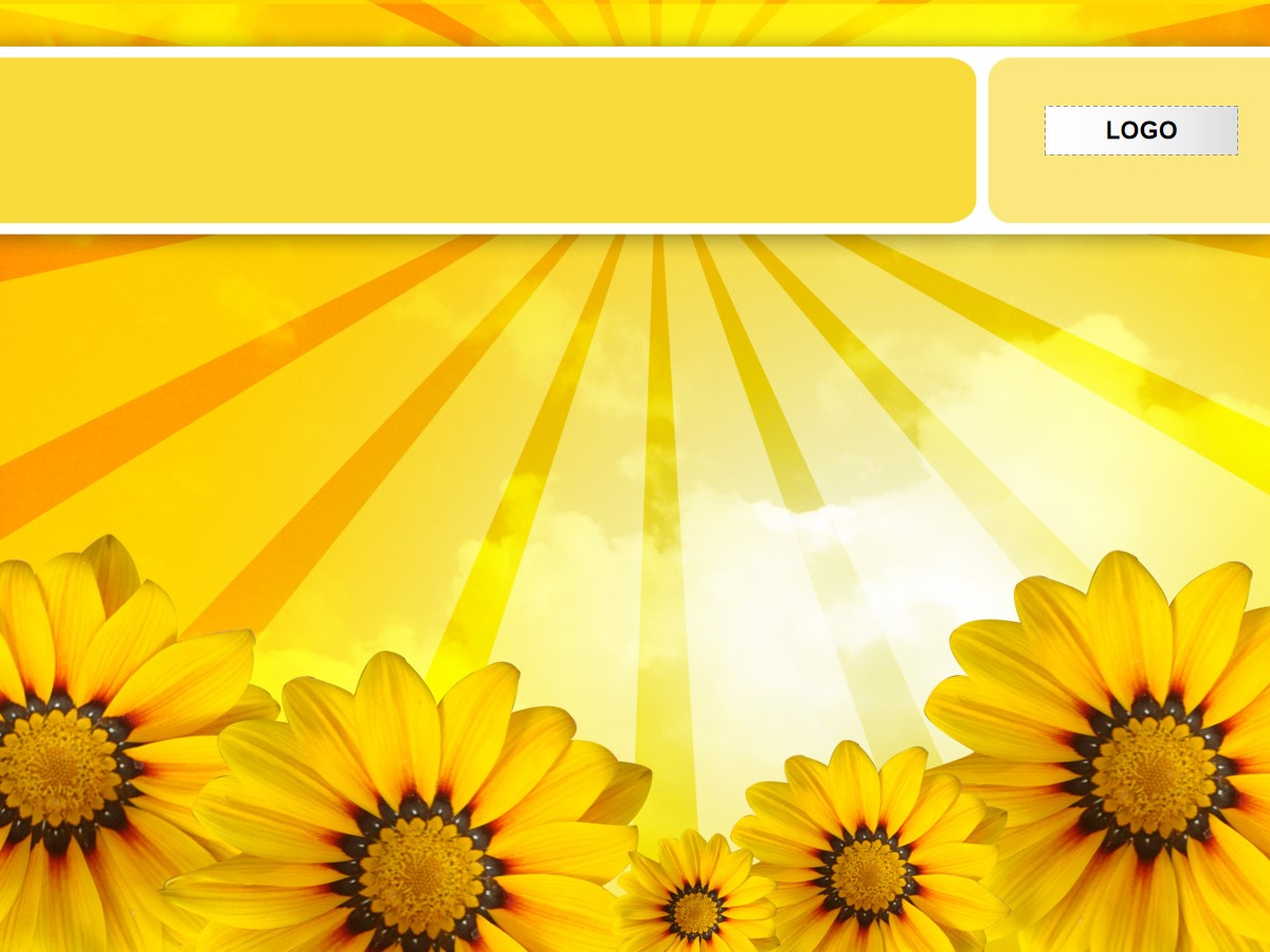 向日葵背景幻灯片模板
