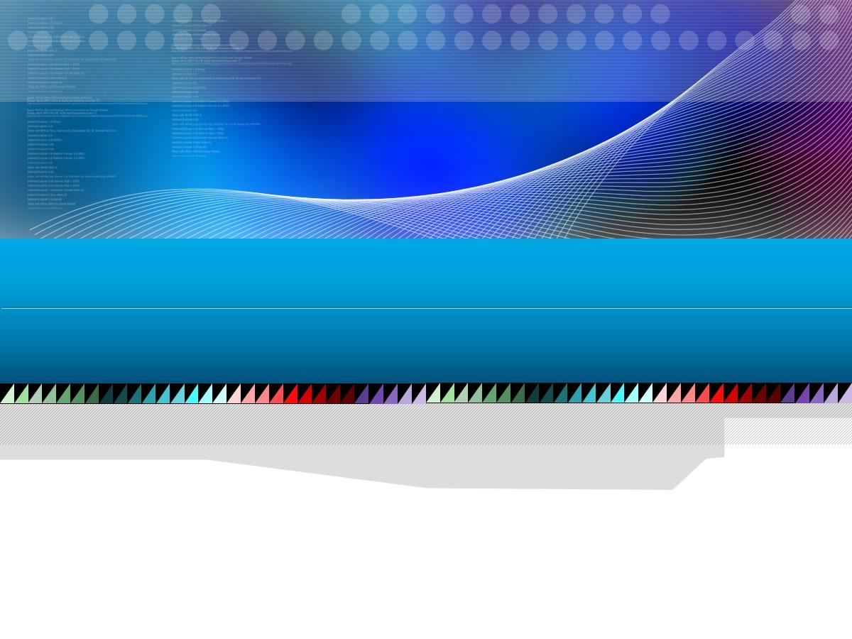 蓝色波浪线背景科技幻灯片模板