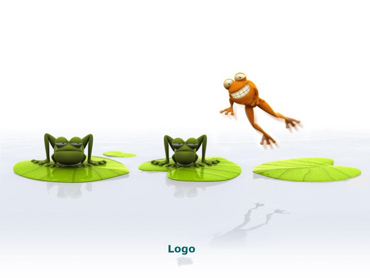 可爱的立体动物幻灯片背景图片