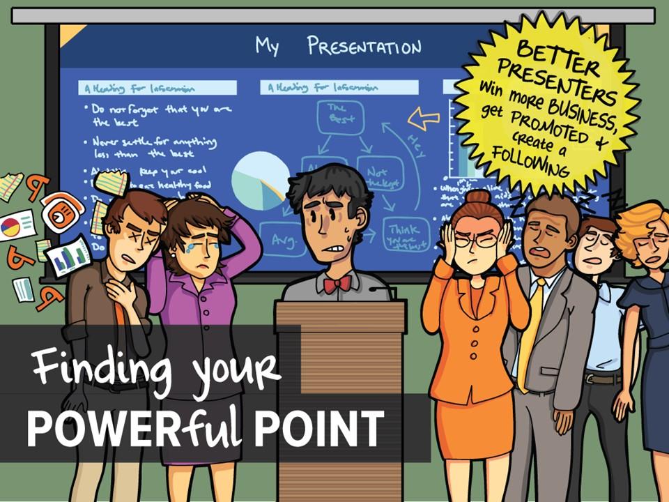 推荐漫画风格演说利器――国外线描漫画PPT模板