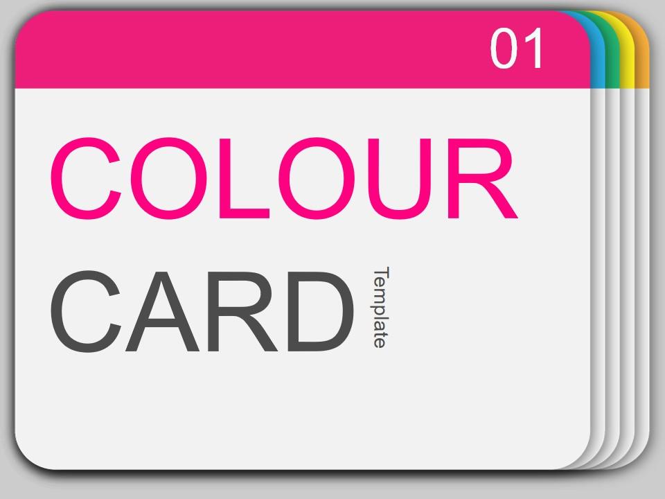 颜色样卡 色卡创意欧美风PPT模板