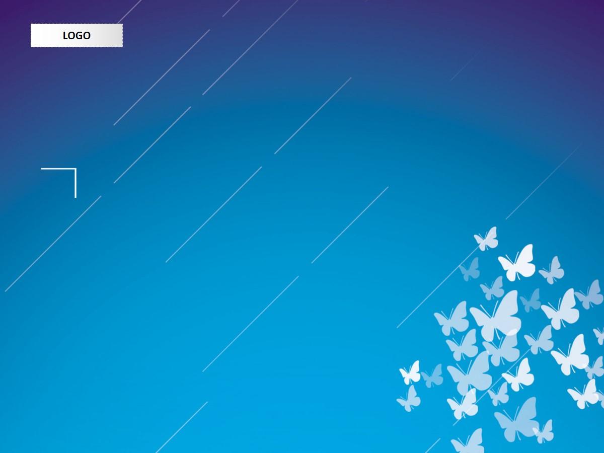 蝴蝶图案背景艺术PPT模板