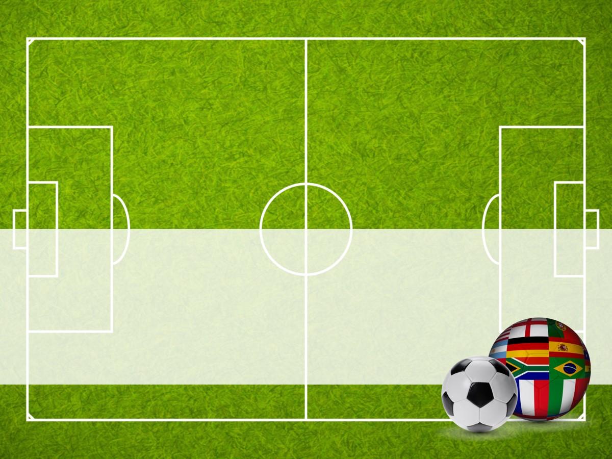 足球背景世界杯PPT模板