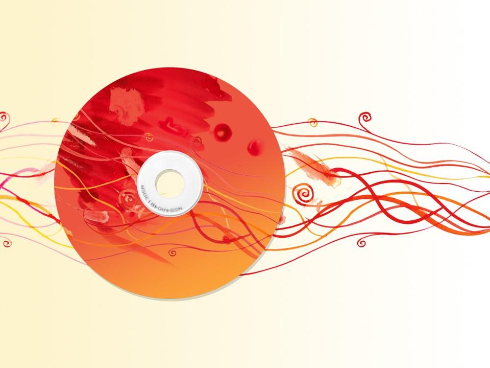 CD光盘PPT模板
