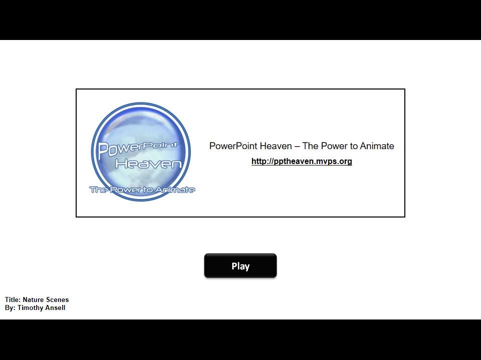 PPT手工绘制风景PPT模板