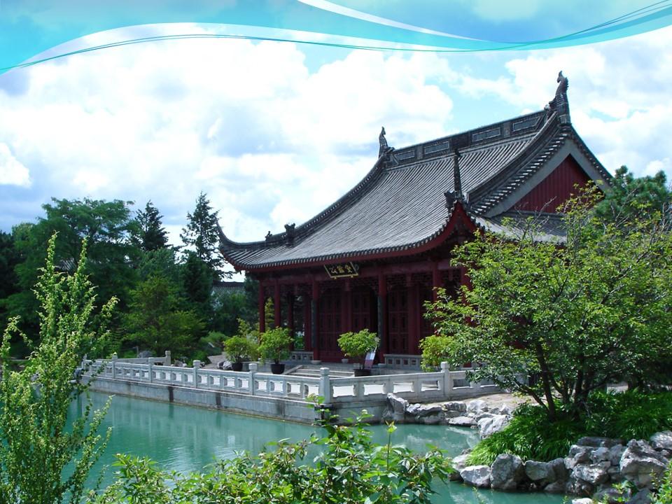 古代后宫庭院园艺风景PPT模板