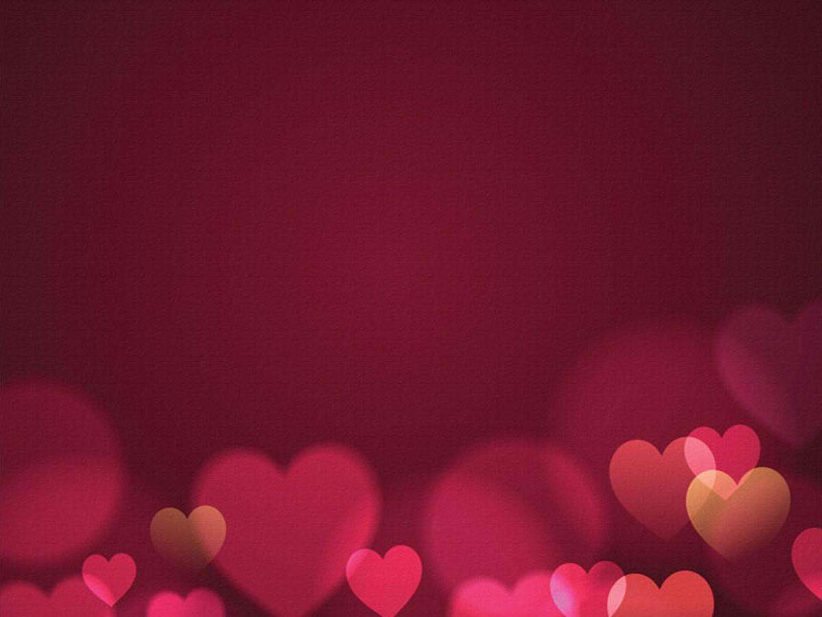 红色心情PPT背景图片