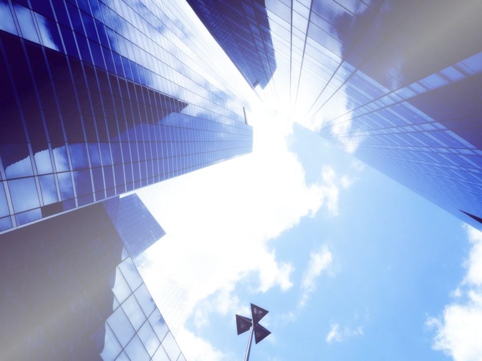 现代商务大楼简洁商务模板