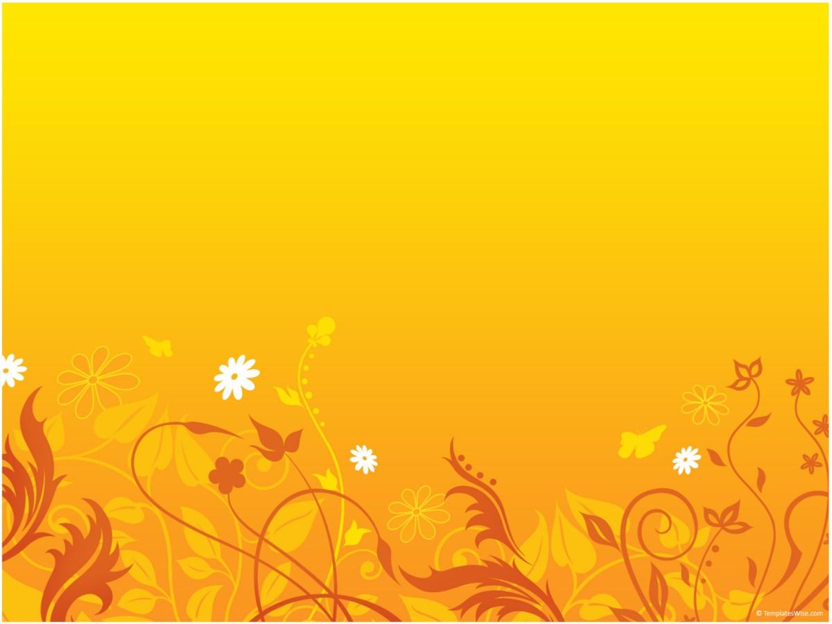 金色花纹背景艺术PPT模板