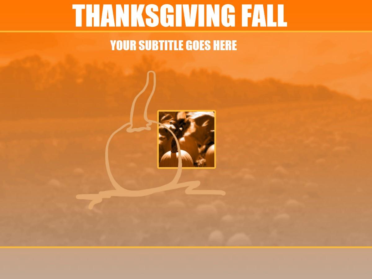 国外感恩节PPT模板