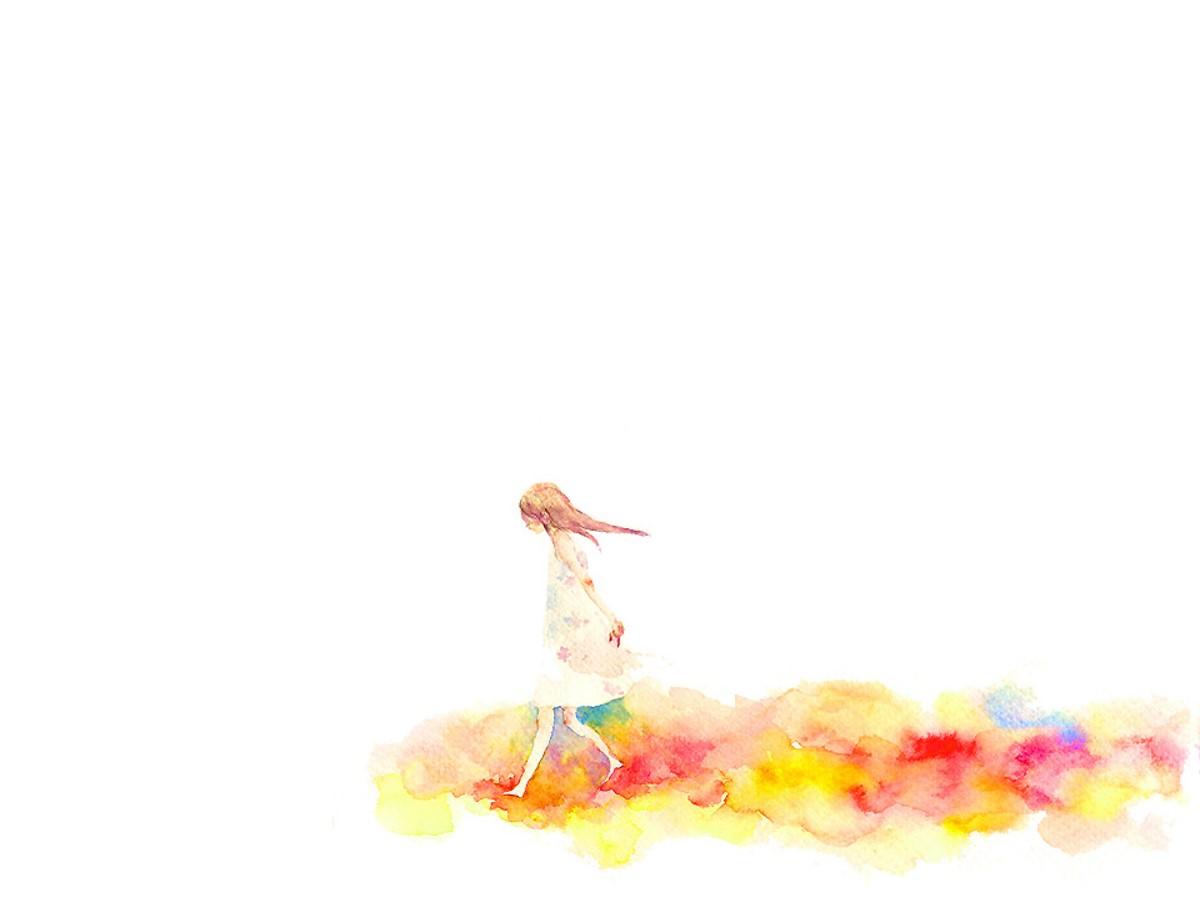 水彩彩绘卡通PPT背景图片