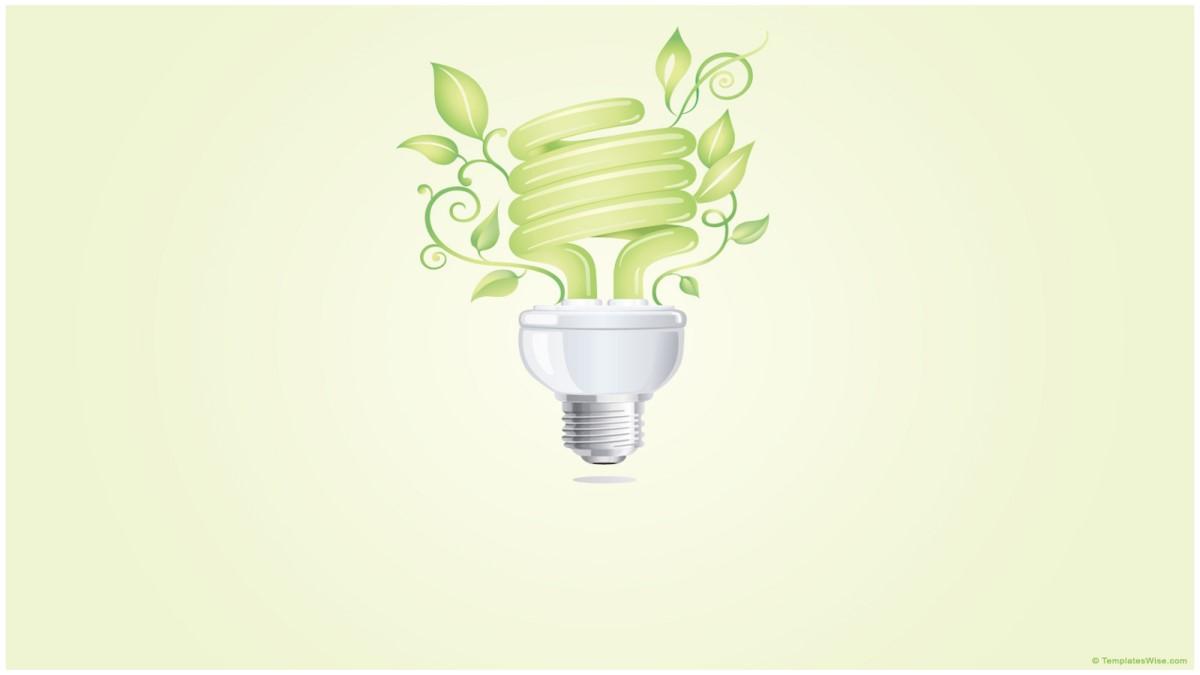 淡雅绿色环境保护低碳生活PPT模板