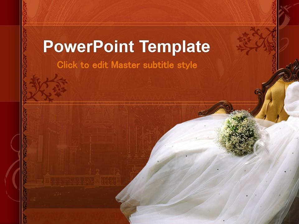 浪漫婚纱欧式风格婚礼主题PPT模板