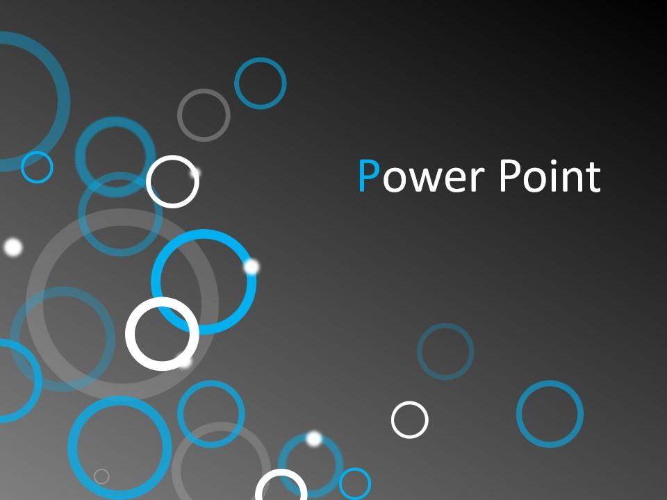 视觉感圆圈创意设计深灰色背景PPT模板