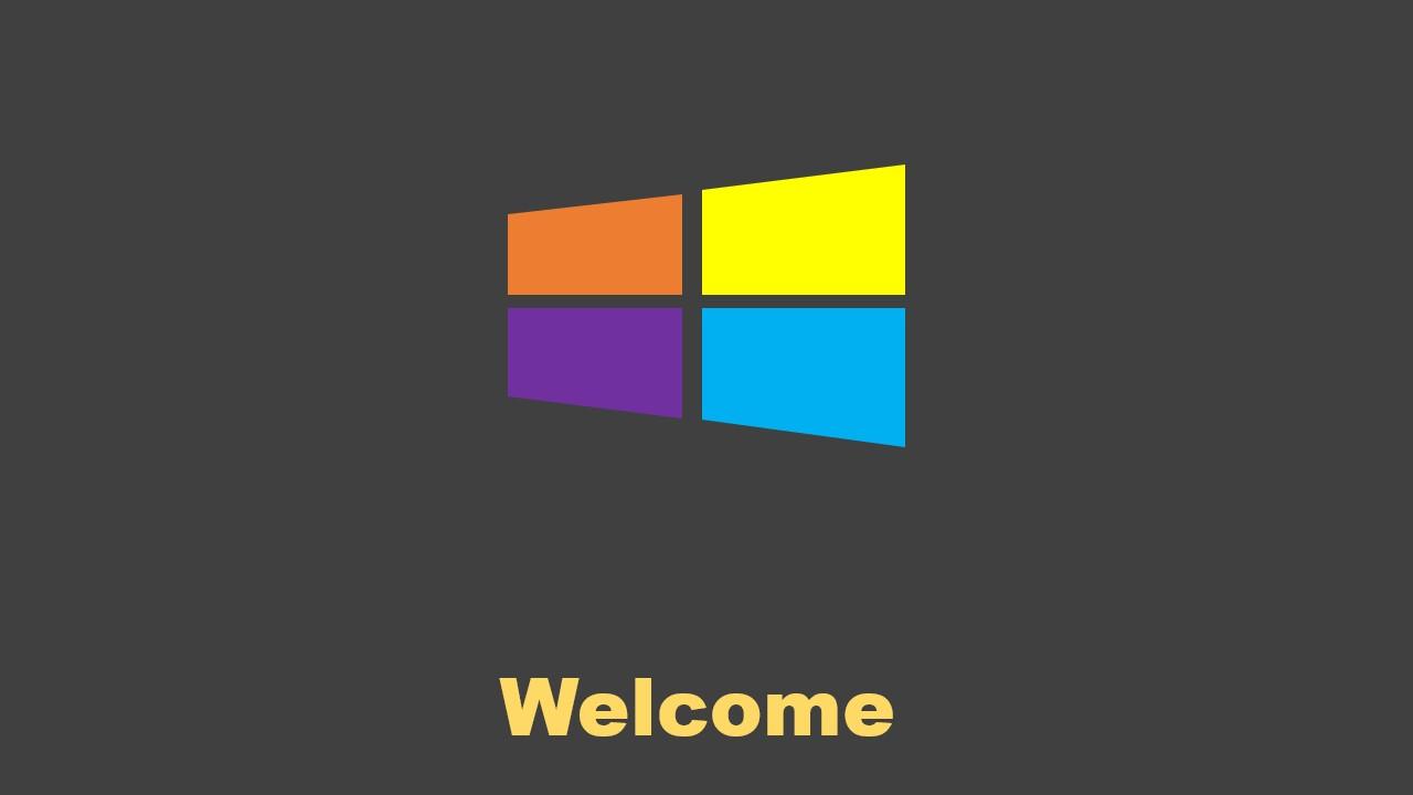 微软win8风格PPT模板
