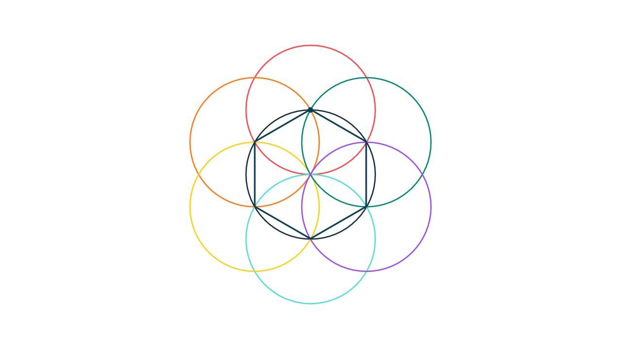 多彩六边形创意简约商务演示汇报PPT模板