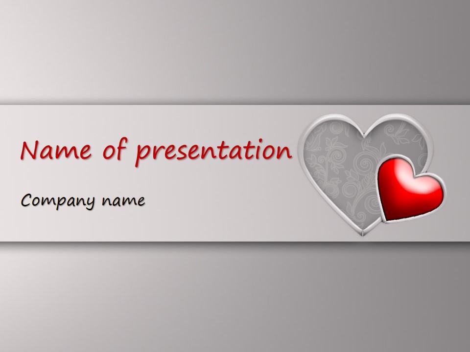 水晶红心PPT爱情模板